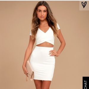 Lulu's ivory two piece outfit